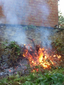 An autumn Saturday: jumbles and bonfires